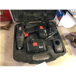 JOBMATE 18 VOLT CORDLESS DRILL WITH CASE