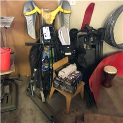 LOT OF SPORTING EQUIPMENT AND MORE