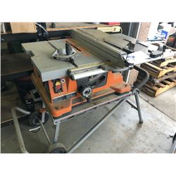 RIDGID TABLE SAW WITH STAND