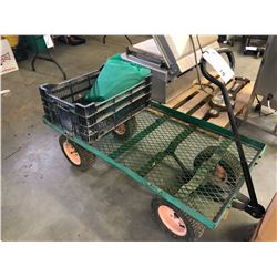 4 WHEEL WIRE CART