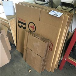 LOT OF BOWMAN CARDBOARD BOXES