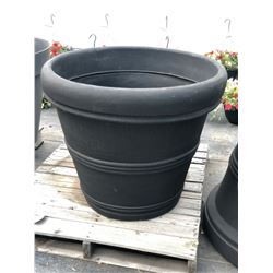APPROX. 3' ROUND DECORATIVE PLASTIC PLANT POTS