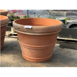 APPROX. 4' DECORATIVE PLASTIC PLANT POTS