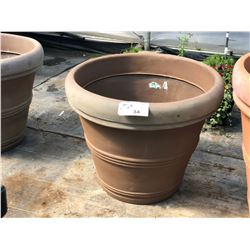 APPROX. 3' DECORATIVE PLASTIC PLANT POTS