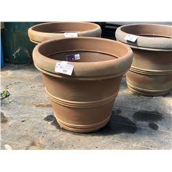 APPROX. 3' DECORATIVE PLASTIC PLANT POTS