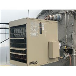 LENNOX MODEL LF-200A-6 120 VOLT, SINGLE PHASE, SINGLE FAN HEATER, COMES WITH EXHAUST CHIMNEY