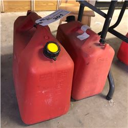 2 RED GAS CANS