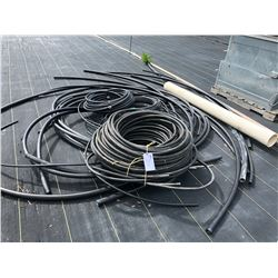 LOT OF ASSORTED BLACK POLY HOSE
