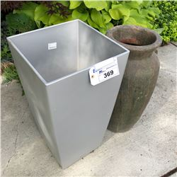 2 MEDIUM SIZED DECORATIVE PLANTERS