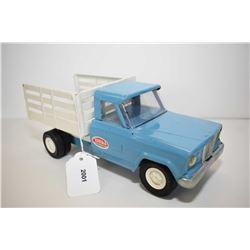 "Tonka pressed tin farm truck with tilt deck 9 1/2"""