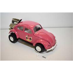 """Tonka pressed tin Volkswagen bug """"Plum Wild"""" 8 1/2"""" in length"""