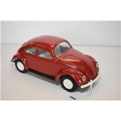 """Vintage Tonka pressed tin Volkswagen beetle 8 1/2"""" in length"""