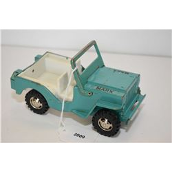 "Vintage Marx pressed tin jeep, 6 1/2"" in length"