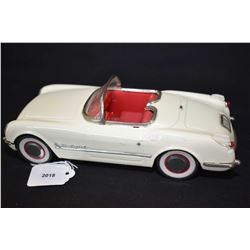 Vintage pressed tin Chinese made 1955 Corvette friction car, 10  in length