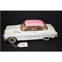 """Vintage pressed tin 1950's style Buick friction car, 11"""" in length"""