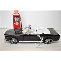 """Die cast 1:18th scale 1964 and a half Mustang convertible with opening doors, trunk and hood, 10"""" in"""