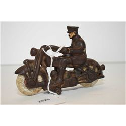 Hubley police motorcycle Antique cast iron Hubley police motorcycle, some original paint and origina