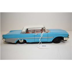 Pressed tin Taiyo Ford Galaxy friction car, made in Japan, 10 1/2  in length
