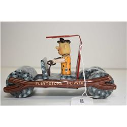 """Flintstone Flivver pressed tin, friction car made by Marx, 7"""" in length"""