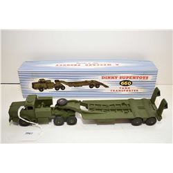 """Dinky Super toys """"Tank Transporter"""" No. 660 in mint condition with mint condition box"""
