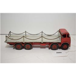 """Dinky """"Foden Flat truck with chains"""" No. 905, in played with condition, no box"""