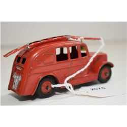 Dinky toys fire truck with original bell and ladder in good condition