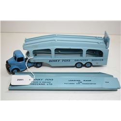 """Dinky toys """"Pullmore"""" car transporter No. 982 with ramp in excellent condition"""
