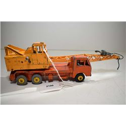 """Dinky Super Toys """"20 Ton Lorry/Mounted Crane"""" No. 972 in fair condition"""
