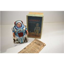 "Russian made metal robot toy ""Astronout with Raer"" in original box and original instruction in Russi"