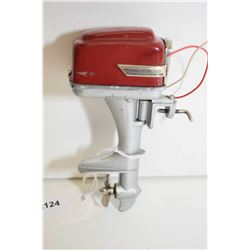 Miniature battery powered metal cased outboard motor
