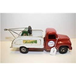 "Vintage Buddy L pressed tin Repair It tow truck, cab has been repainted, 14 1/2"" in length"