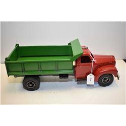"Smith-Miller pressed steel Mack dump truck, 18"" in length, some repaint"