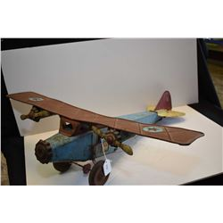"""Vintage pressed Schieble's Tri-Motor Transport No. 30, made in Dayton, Ohio, with 26 1/2"""" wing span"""