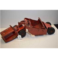 """Vintage Structo pressed steel Scraper, 21"""" in length"""
