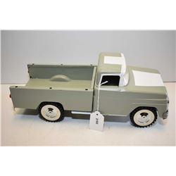 "Vintage Tonka pressed steel pick up truck, repainted with new wheels etc. 14"" in length"