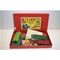 Selection of vintage Meccano Accessory pieces and manuals plus original box