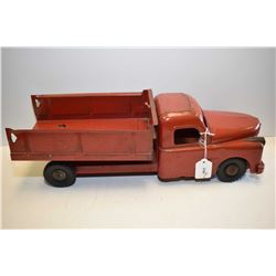 "Structo pressed steel dump truck with opening hood 19 1/2"" in length"