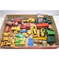 Large selection of die cast toys including Corgi, Britain's, Match Box etc.