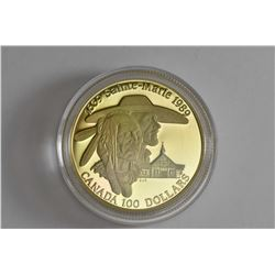 "1989 Royal Canadian Mint ""Huron Indian and Missionary 1639 Sainte-Marie 1989"" $100 coin comprising o"