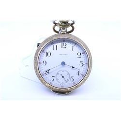 Waltham size 18, 17 jewel pocket watch. Grade 85, model 1883. Serial # 12007566 dates to 1902. Split