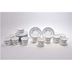 "Twelve Royal Doulton ""Coniston"" china cups and saucers HN5030"