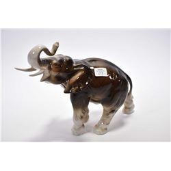"Royal Dux porcelain elephant 12"" in length"