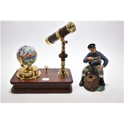 """Royal Doulton """"The Lobster Man"""" HN2317 and a musical desk ornament featuring kalediscope and rotatin"""