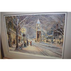"""Framed limited edition print """"Candlelight Stroll"""" pencil signed by artist Trisha Romance, 11407/1500"""