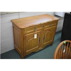 Quality server with cutlery drawer and two door storage and fold over serving top made by Ethan Alle