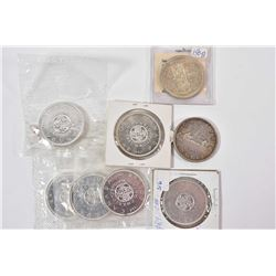 Eight Canadian silver dollars including 1954, 1958 and six 1964, note four in factory sealed packagi