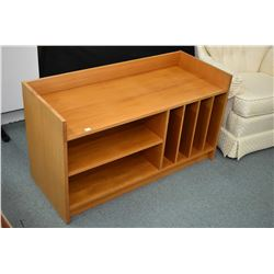 Selection of mid century modern furniture including side table with under shelf, entertainment stand