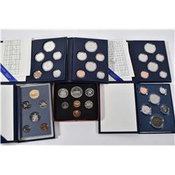 Six cased Canadian decimal coins sets including 1973, 1982, 1983, 1985, 1987 and 1993