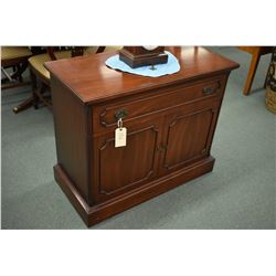Mahogany server with single drawer and two doors made by Gibbard