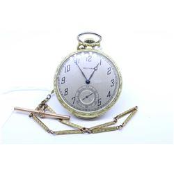 Waltham size 12 pocket watch, grade 220, 15 jewel. Serial # 23751166 dates to 1920. Nickel 3.4 split